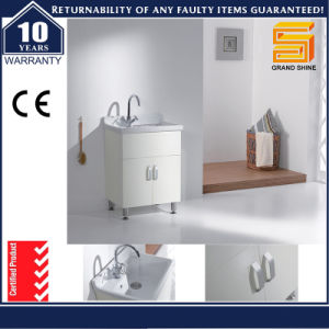 Wall Mounted MDF Lacquer Bathroom Vanity Unit with LED Light pictures & photos