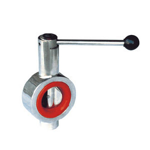 Sanitary Butterfly Valve with Red Silicon Seal pictures & photos