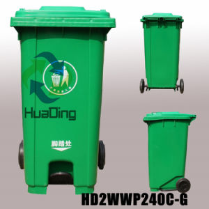 Plastic Outdoor Dustbin Rubber Wheel Trash Can for Outdoor pictures & photos