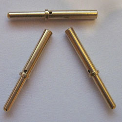Plain Brass Machined Pins for Machinery Parts pictures & photos