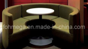 Coffee Shop Bar Restaurant Round Sectional Sofa Booth (FOH-RT4) pictures & photos