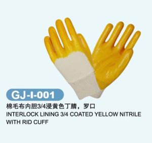 Jersey Gloves Nitrile Coated with Cheap Price