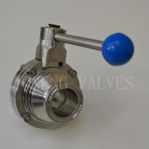 Stainless Steel Hygienic Butterfly Type Ball Valve pictures & photos