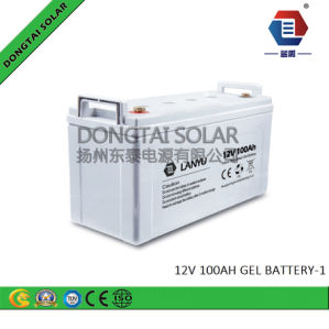 12V 100ah VRLA Deep-Cycle Gel Battery for Power Station pictures & photos