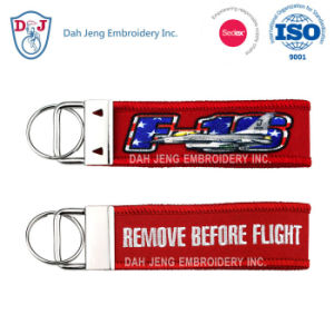 Sublimation + Embroidery Key Chain - Promotion Gift pictures & photos