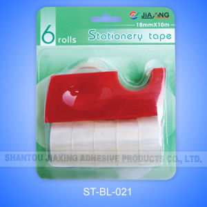 Transparent Tape with 03 Dispenser in Blister Card pictures & photos