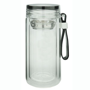 Double Wall Glass Bottle with Loop pictures & photos