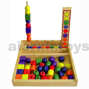 Wooden Beads Sequencing Toy (80813) pictures & photos