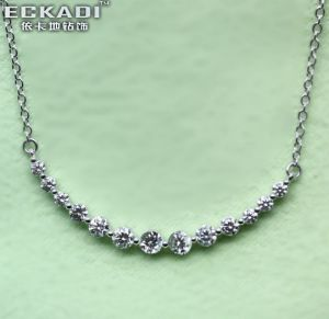 18k Gold Cubic Zirconia Necklace (EKDN0954Z)