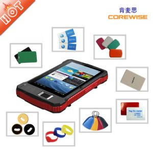 Portable Tablet PC with RFID Qr Fingerprinter pictures & photos