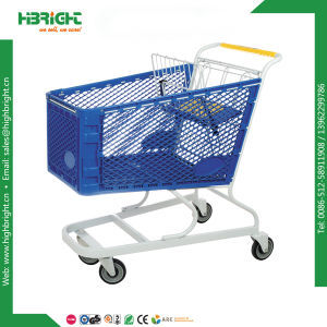 Plastic 180L Shopping Trolley Cart for Supermarket Mall pictures & photos