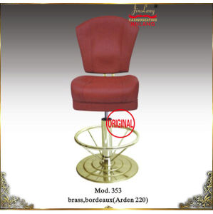 Casino Chair Brass Footrest with Red Color Mod. 353