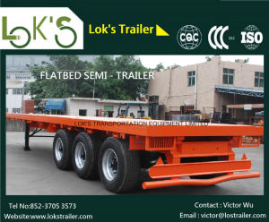 3axles Flatbed Semi Trailer pictures & photos