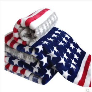 Wholesale 100% Polyester Queen Size Coral Fleece Blanket for Hotel Military