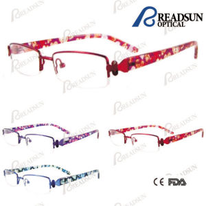 Fashion Stainless Steel Frame with Tr90 Colorful Pattern Temple Child Eyewear (OMK124002) pictures & photos