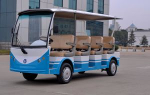 4 Wheel for 11 Seats Electric Sightseeing Bus From Dongfeng on Sale pictures & photos