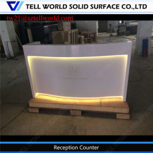 china contemporary corian acrylic solid surface office front desk