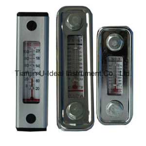 Glass Aluminum Oil Level Gauge Indicator with Thermometer pictures & photos