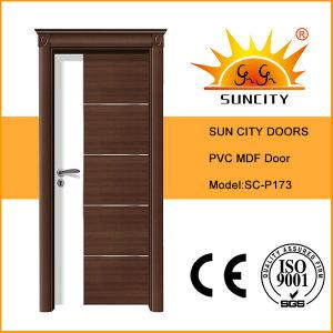Hot Sale MDF Panel PVC Door, PVC Door with Door Crown (SC-P173) pictures & photos
