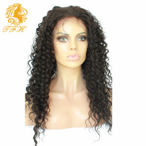 8A Glueless Full Lace Human Hair Wigs Peruvian Virgin Hair Deep Curly Lace Front Human Hair Wigs for Black Women with Baby Hair pictures & photos