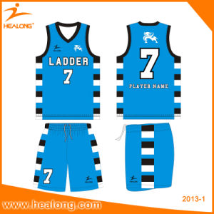 Healong Full Sublimation Custom Basketball Suit pictures & photos
