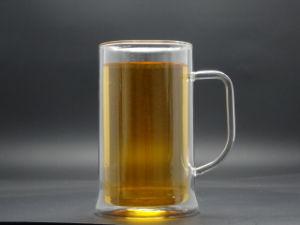 550ml Borosilicate 3.3 Double Wall Glass Mug for Beer