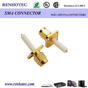Gold Plated SMA Four Way Male Straight SMA Rotating Electrical Connectors pictures & photos
