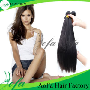 High Quality 100% Straight Human Brazilian Hair Weft pictures & photos