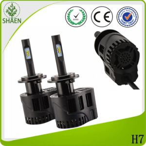 Adjustable Build in Driver Fanless LED Auto Headlight H7 pictures & photos