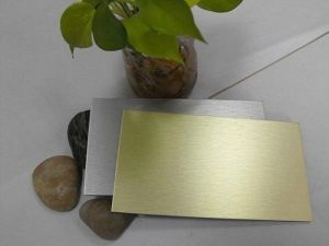 Gold Brushed Aluminum Composite Panel