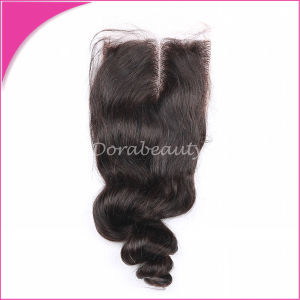 Unprocessed Brazilian Hair Loose Wave Lace Closure pictures & photos