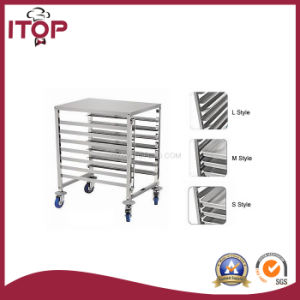 Single Row 7 Layers Stainless Steel Tray Trolley Cart (TR-T) pictures & photos