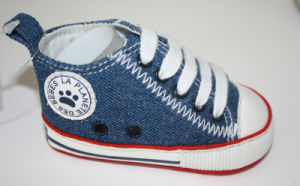 Jeans Fabric Baby Boots Baby Shoes Ws17534 pictures & photos
