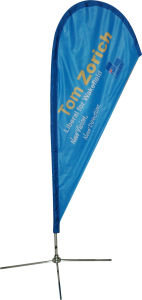 Fashion Polyester Feather Teardrop Flag for Outdoor Event pictures & photos