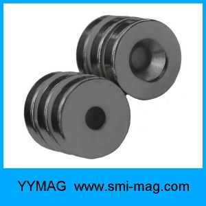 Neodymium Black Epoxy Coating Ring Circle Magnet pictures & photos