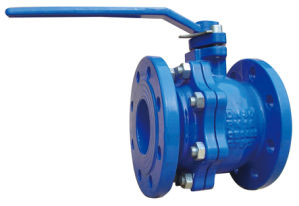 Cast Iron Double Flange Ball Valve, DIN3357 Pn10/16 pictures & photos