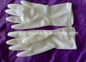 Sterile Surgical Latex Surgical Gloves Powder Free pictures & photos