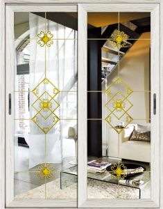 Aluminium +Glass Double Wings New Design Interior Doors pictures & photos