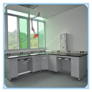 University Chemistry Laboratory Corner Wall Work Station with CPU Holder pictures & photos