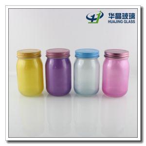 Best Sale 400ml Printing Glass Mason Jar