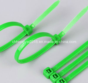 New Plastic 4*300mm Green Color Nylon Cable Ties pictures & photos