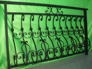 Beautiful Decorative Vintage Wrought Iron Balcony Railing Balustrade pictures & photos
