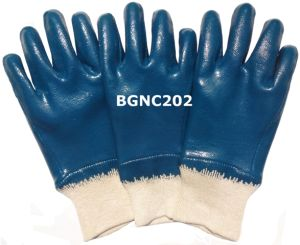 Cotton Jersey Heavy Duty Nitrile Coated Work Gloves