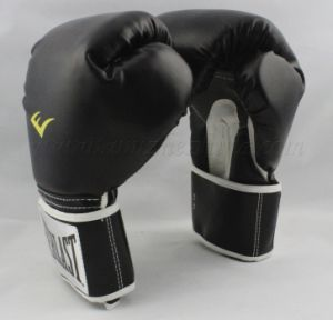 Black Leather Boxing Glove Training Glove (LDXU-1301) pictures & photos