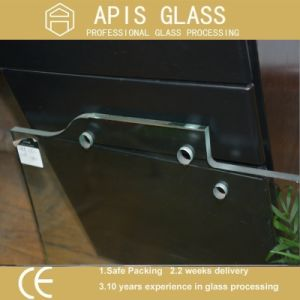8mm-12mm Bathroom/Shower Room Door Tempered Glass with Hole and Hinge pictures & photos