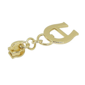Bag Garment Accessories Custom Metal Zipper Head Puller Zipper Slider with Letters pictures & photos