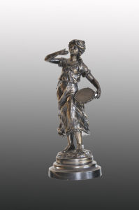 French Bronze Sculpture 3105 (can be used as lamp base)