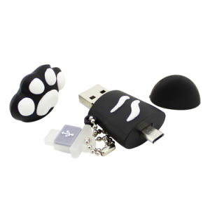 Hello Kitty Paw OTG USB Flash Pen Drive U Disk Memory Stick 8GB 16GB 32GB 64GB Pendrive Thumb Stick for Smartphone or Computer pictures & photos