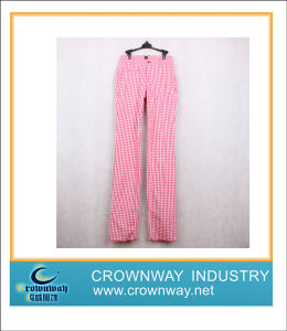 Loose Fit Golf Pant for Women, Checkeredprinted (CW-MGTS-10) pictures & photos