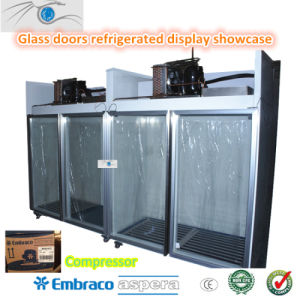 Glass Doors Refrigerated Upright Display Showcase pictures & photos